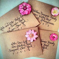 Calligraphy: Wedding Envelopes