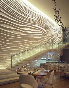 The Blue Fin Restaurant W Times SquareWall Surface Interiors   Interior design Yabu Pushellberg