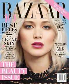 Jennifer Lawrence covers the May 2016 issue of Harper's Bazaar. She wears all Dior ensembles in the cover shoot by Mario Sorrenti. Mario Sorrenti, Jennifer Lawrence Interview, Jennifer Lawrence Pics, J Law, V Magazine, Magazine Covers, Magazine Editorial, Digital Magazine, Liam Hemsworth