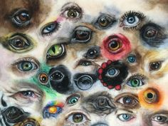 I set up an international art challenge - for artists to paint/draw 100 eyes in 100 days. I paint with wool (needle-felting) and this is the result! My artwork took 70 hours to complete and includes animals, people and the odd celebrity! Wool Needle Felting, Needle Felting Tutorials, Nuno Felting, Felted Wool, Book Crafts, Felt Crafts, Craft Books, Thread Painting, Painting & Drawing