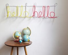 Letter Coat Rack from Oh Happy Day #diy