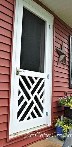"""""""Chippendale"""" DIY Wood Screen Door tutorial"""