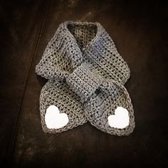 This is a pattern for an adorable crocheted scarf.