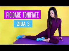 EXERCITII PENTRU PICIOARE/ ZIUA 3/ PICIOARE SUBTIRI SI TONIFIATE [HD] - YouTube Youtube, Youtubers, Youtube Movies