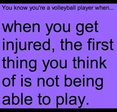 Hahaha..... Then turning to the teammate nearest you and making them promise not to tell coach ur injured!