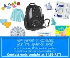 We're giving away our newly redesigned diaper backpack filled with goodies!  http://woobox.com/ze3mqo/j7n2mu