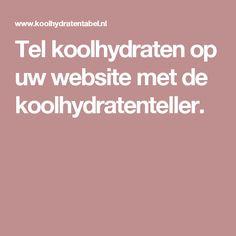 Tel koolhydraten op uw website met de koolhydratenteller.