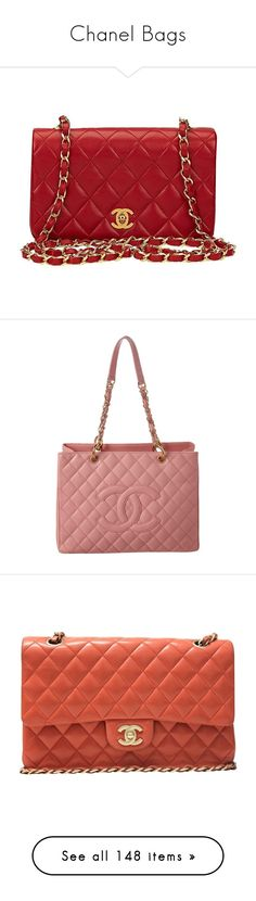 """""""Chanel Bags"""" by danielle-valentine-666 ❤ liked on Polyvore featuring bags, handbags, red, structured shoulder bags, shoulder bag purse, chanel purse, structured handbags, vintage handbags, mini purse and tote bags"""