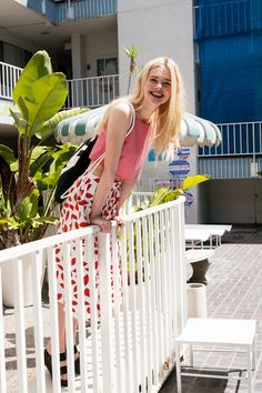 Elle Fanning, photographed by Michael Hauptman for ASOS, July 2014.