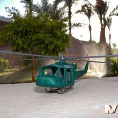 3D army chopper, MaoCasella Download on https://cults3d.com #3Dprinting