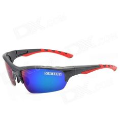 OUMILY Outdoor Cycling UV400 Protection Resin Lens Polarized Sunglasses Goggles - Multi-colored