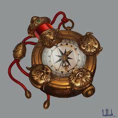 Goblin`s compass, Natali Kalashnikova on ArtStation at https://www.artstation.com/artwork/XdkDa