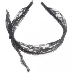 Black Lace & Alloy Hot Fashion Cute Sexy Headband Bowknot Hair Band 14x10cm