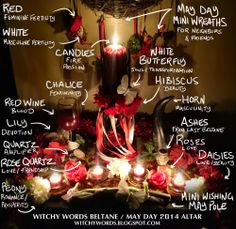 Witchy Words: Witchy Words Beltane / May Day 2014 Altar