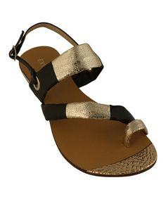 Another great find on #zulily! Black Emma Sandal by Eddie Marc & Co. #zulilyfinds $24.99, usually 60.00