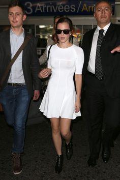 The 50 Best Little White Dresses: Emma Watson in A.L.C.