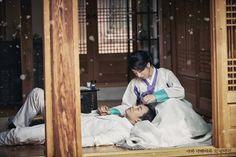 뮤지컬 나와나타샤와흰당나귀 컨셉사진 백석役 이상이&자야役 정인지