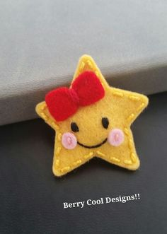 Twinkle Little Star Baby Snap Hair Clip www.berrycooldesigns.etsy.com