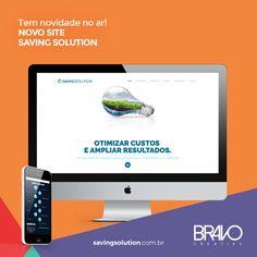 Moderno, bonito, intuitivo e o mais importante: objetivo.      O novo site da Saving Solution é mais um projeto web com design responsivo e layout exclusivo, que apresenta todo o conteúdo em uma única página (single page), o que permite ao usuário navegar por todo o site e conhecer a marca em poucos cliques.      Mais em www.bravocreative.com.br      #temnovidadenoar #savingsolution #novosite #site #sites #criacaodesite #designresponsivo #responsivo #responsivedesign #responsive #design…