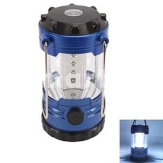 12 LED Linterna camping Portable Light con brújula,$11.35