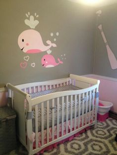 Nautical/whales bedroom for a precious littke girl!