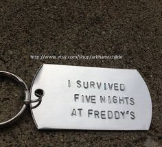 I Survived Five Nights at Freddy's keychain by ArkhamsChilde