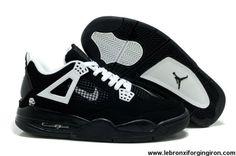 Low Price Black White Air Jordan 4 (IV)
