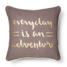 Life is an Adventure Throw Pillow - Gold - Room Essentials™ : Target