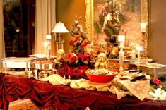 How to Set a Buffet Table | Tips for Self Catering Buffet Set Up, Party Buffet, Table Set Up, Buffet Ideas, Party Tables, Buffet Table Settings, Buffet Tables, Dining Table, Christmas Potluck