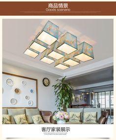 Американская страна кованой ресторан потолок ретро минималистский Nordic творческой личности гостиной лампы освещения в европейском стиле, сад - Taobao