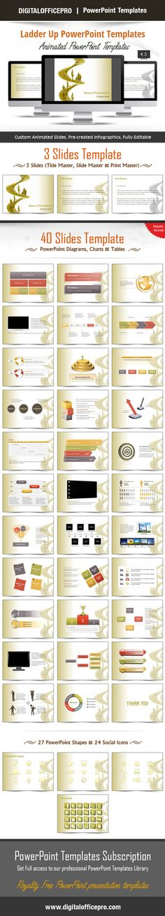 Impress and Engage your audience with Ladder Up PowerPoint Template and Ladder Up PowerPoint Backgrounds from DigitalOfficePro. Each template comes with a set of PowerPoint Diagrams, Charts & Shapes and are available for instant download.