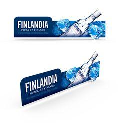 Shelftalker Vodka Finlandia on Behance Pos Display, Bottle Display, Display Design, Counter Display, Booth Design, Banner Design, Pos Design, Retail Design, Stand Design