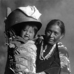 Mother's Day: Navajo mother and baby in cradleboard. William M. Pennington [created between 1904 and 1932].