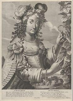 """""""L'Automne"""" by Grégoire Huret (French,1606-1670)  Pub. by Pierre Mariette"""