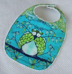 baby or toddler bib paisley owl by tweeddesigns on Etsy, $9.00