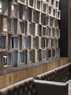 Warm and Rustic Interior Design at Cotta Cafe in Melbourne - Design wall partitions
