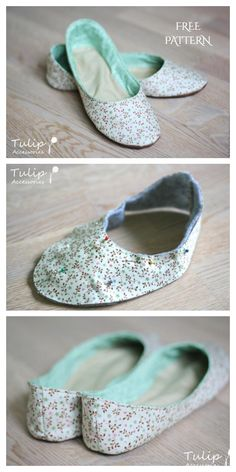 How To Make Slippers, Slippers For Girls, How To Make Shoes, Sewing Patterns Free, Free Sewing, Free Pattern, Creeper Minecraft, Fabric Shoes, Fabric Art