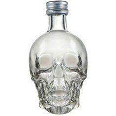 Drinking vodka.  From a crystal skull.  Badass.