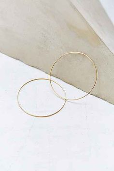 Sterling Silver + 18k Gold Plated Daryl Hoop Earring
