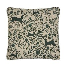 Refresh a home with this stylish cushion from The Collection. Made in a linen and cotton blend, it showcases a beautiful flocked leaf and reindeer pattern with textured embroidery. Flocking, Home Collections, Reindeer, Outdoor Blanket, Cushions, Scene, Throw Pillows, Embroidery, Stylish
