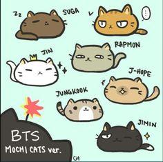 Jimin: Kodomo Jungkook: CookieJin: Princess J-hope: Hope Rap Monster: Cat Monster V: Mr Alien Suga: Grumpy why is this so funneh