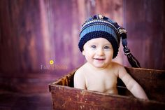 Baby Knitted Hat for Photography Props and by knoodleknits on Etsy, $30.00