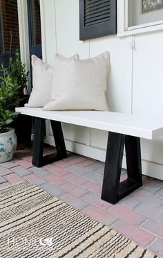 West Elm Knock-off Bench Tutorial! Original $599, Knock-off under $15!