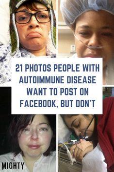 21 Photos People With Autoimmune Disease Want to Post on Facebook, but Don't #autoimmune #chronicillness Chronic Fatigue, Chronic Illness, Chronic Pain, Fibromyalgia, Invisible Illness, Autoimmune Disease, Health Tips, Facebook, People