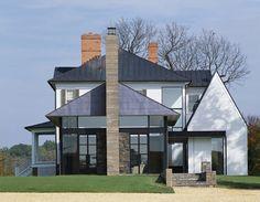 Blue Ridge Farmhouse Addition by Robert Gurney Architect A beautiful modern farmhouse