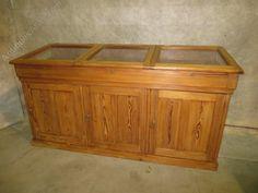 Pitch Pine Museum Cabinets - Antiques Atlas
