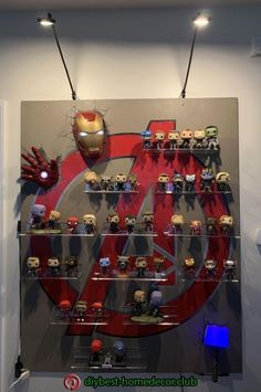 Great Ideal for displaying your Marvel Avengers Funko Pops! For The Best Mugs On Etsy Check out Kevin's Corner Store Today! Funko Pop Marvel, Marvel Avengers, Avengers Room, Marvel Bedroom, Marvel Nursery, Bedroom Boys, Baby Bedroom, Bedroom Decor, Funko Pop Display