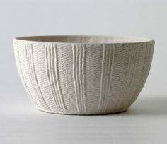 Another MUST have.. CABLE KNITTED ceramics BY ANNETTE BUGANSKY - LOVE