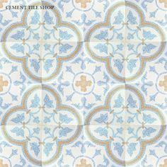 Cement Tile Shop - Encaustic Cement Tile Roseton