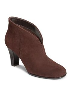 A2 by Aerosoles Brown Fabric Gold Role Bootie